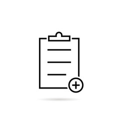thin line black medical prescription icon vector image