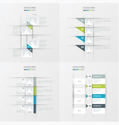 timeline design 4 item green blue gray color vector image