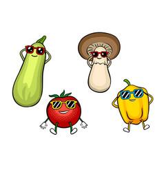 vegetables sunbath pop art vector image
