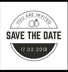 Vintage circle save the date image vector