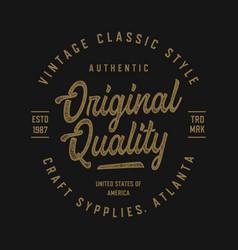 vintage design for t shirt vector image
