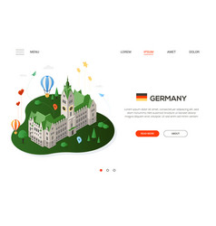 visit germany - modern colorful isometric web vector image