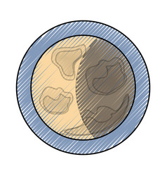 waning gibbous vector image
