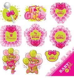 Baby pink big set vector image vector image