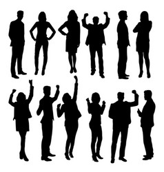 business activity silhouettes vector image vector image