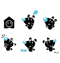 cute dog collection vector image vector image