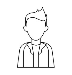 faceless young man icon image vector image vector image