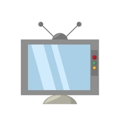 retro television antenna monitor vector image