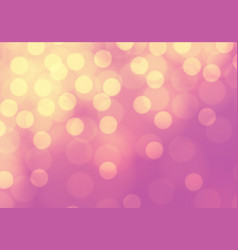 abstract yellow bokeh light on pink luxury vector image vector image