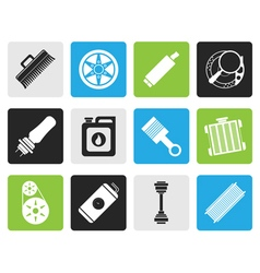 Black Realistic Car Parts and Services icons vector image