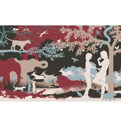 Garden of Eden vector image vector image