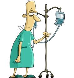 patient hospital vector image