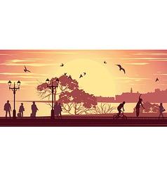Promenade vector image