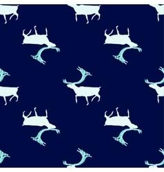 Seamless pattern ice deer vector