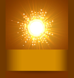 sky and sun magic blur design with burst rays vector image vector image