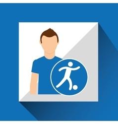 Sport man concept football icon design vector