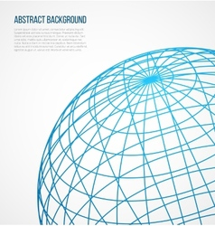 Abstract globe sphere from blue lines on white vector image