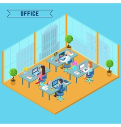 Modern Office Interior Isometric Business vector image vector image