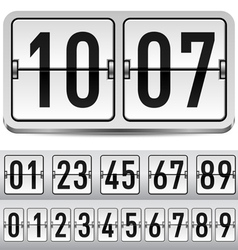 Numbers of gray mechanical panel for design vector image vector image