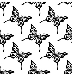 Repeat seamless pattern of butterflies vector image