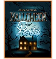 Retro Halloween background party invitation vector image