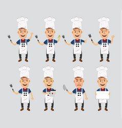 young cook cartoon mascot vector image vector image