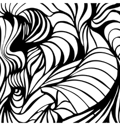 Abstract black and white wavy stripes vector image vector image