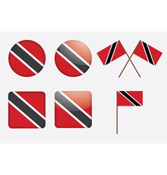 badges with flag of Trinidad and Tobago vector image vector image