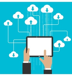 Cloud storage service and computing concept vector image vector image