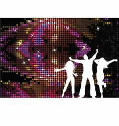 disco people vector image vector image