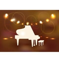 Grand piano vector image