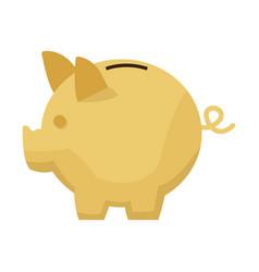 moneybox piggy safe deposit banking vector image