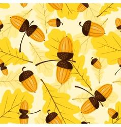 seamless oak pattern vector image vector image