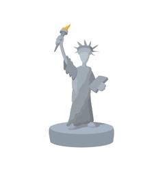 Statue of Liberty cartoon icon vector image