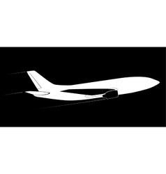 The contour of the modern jet aircraft Side view vector image