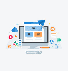 web design build vector image