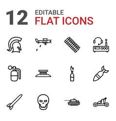 12 war icons vector