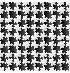 3d jigsaw tile seamless pattern blackampwhite 002 vector image