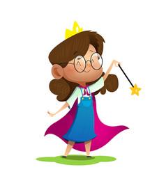 a cute girl dressed like princess vector image