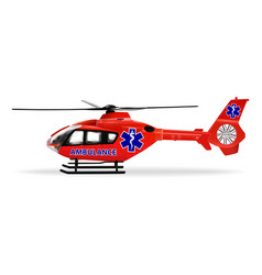 air ambulance is a specially outfitted helicopter vector image