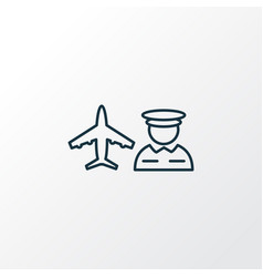 airport worker icon line symbol premium quality vector image