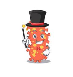 an attractive magician bacteroides cartoon vector image