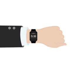 analog watch and smart watch on businessman s vector image