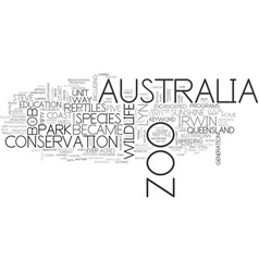 Australia zoo text word cloud concept vector