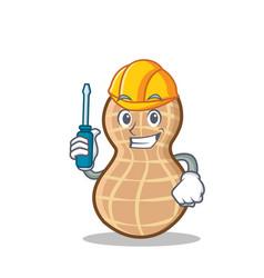 Automotive peanut character cartoon style vector