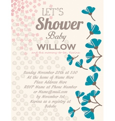 Baby-Shower Tulips-Offwhite vector image