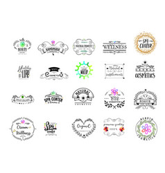 badge as part design - cosmetics logo vector image