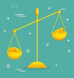 balance with coins icon vector image
