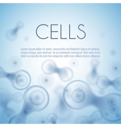 Blue cell background vector image