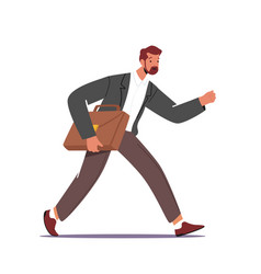 Business character late in office anxious vector